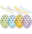easter background with four languages vector image vector image