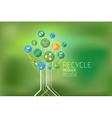 Ecology Infographic Recycle Reduce Reuse vector image vector image