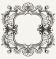 Elegant baroque ornate curves engraving frame vector | Price: 1 Credit (USD $1)