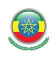 ethiopia flag button ethiopia flag icon of vector image vector image