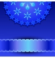 filigree pattern with snowflakes vector image vector image