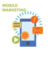 Flat design Mobile Marketing Icon vector image vector image