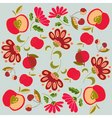 floral and fruits vector image vector image