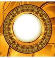 gold vintage frame vector image vector image