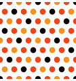 halloween polka dots on white background vector image