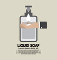 Hand With Liquid Soap vector image vector image