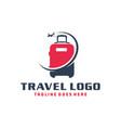 holiday travel suitcase logo vector image