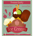 Ice Cream Vintage Card Menu vector image vector image