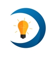 Idea Bulb Flat Icon with Long Shadow vector image vector image