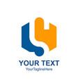 letter s logo design template colored orange blue vector image vector image