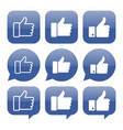like icon collection vector image vector image