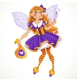 Little tooth fairy with bag of tooth vector image vector image