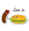 love is in love food sticker vector image vector image
