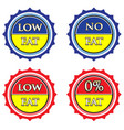 Low and no fat label set