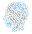 Make Your Business Grow text background wordcloud vector image vector image