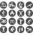 Man People Athletic Gym Gymnasium Body Building vector image
