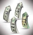 money arrows vector image vector image