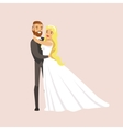 Newlyweds Hugging And Holding Each Other At The vector image vector image