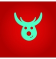 Nice deer on the red background vector image vector image