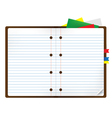 notebook with bookmark and notepads vector image vector image
