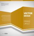 Orange Layout vector image vector image