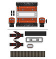 paper model an old electric locomotive vector image vector image