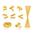pasta set realistic style vector image vector image