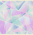 pastel color triangle pattern vector image vector image