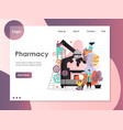 pharmacy website landing page design vector image
