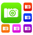 photo camera set collection vector image vector image