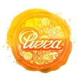 pizza logo design template pizzeria or vector image