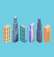 private pproperty isometric buildings set houses vector image vector image