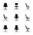 recliner icons set simple style vector image vector image