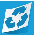 Recycle sticker vector image