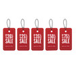 red paper sale tags set of labels vector image vector image
