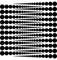 rounds white rounds on black background vector image