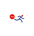 Running logo sport event icon vector image vector image
