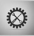service tool icon screwdriver spanner cogwheel vector image vector image