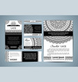 set corporate lace crochet templates vector image vector image