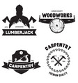 set isolated vintage lumberjack labels vector image
