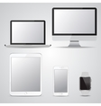 Set of blank screen devices Monitor laptop vector image vector image