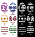 set of easter eggs silhouettes vector image vector image