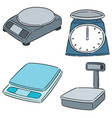 set weighing machine vector image vector image