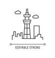 skyscraper pixel perfect linear icon urban vector image