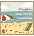 Summer vacation background retro vector image