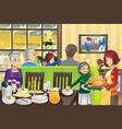 thanksgiving family dinner vector image