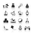 Toys Black Icons Set vector image vector image