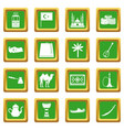 turkey travel icons set green vector image vector image