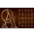 Vintage floral alphabet set