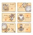 Vintage Menu Set With Cutlery Images vector image vector image